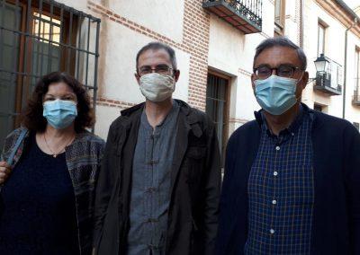 Pilar Lledó, Ángel Carrasco y Vicente Sánchez Moltó