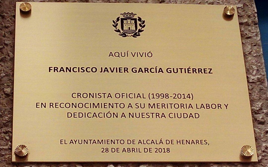 Placa en honor a Francisco Javier García Gutiérrez