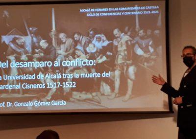 Gonzalo Gómez (Conferencia 'Del desamparo al conflicto: la Universidad de Alcalá tras la muerte del cardenal Cisneros') onzalo Gomez Garcia
