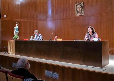 Un momento de la presentación del libro en el Arzobispal