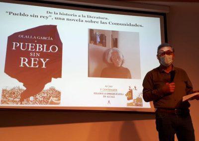 Sánchez Moltó (Conferencia 'De la historia a la literatura, 'Pueblo sin rey', una novela sobre las Comunidades')