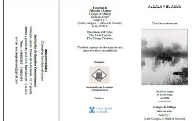 Suspendido el Ciclo de Conferencias 'Alcalá y el agua'