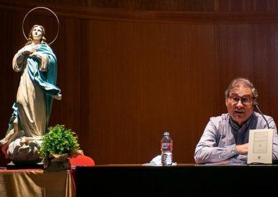 Vicente Sánchez Moltó durante la presentación de la obra