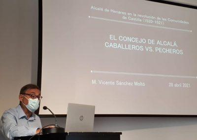 Vicente Sánchez Moltó (Conferencia 'El concejo de Alcalá en el primer cuarto del siglo XVI: pecheros vs. Caballeros')